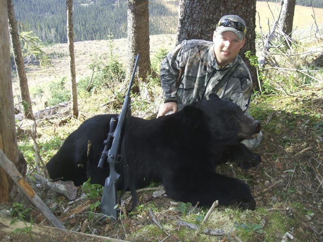 Mr Mark Van Leeuwen Canada And Black Bear Taken With 8mm Remington Mag And Woodleigh 323 250 Grain Weldcore Round Nose Soft Nose Bullet