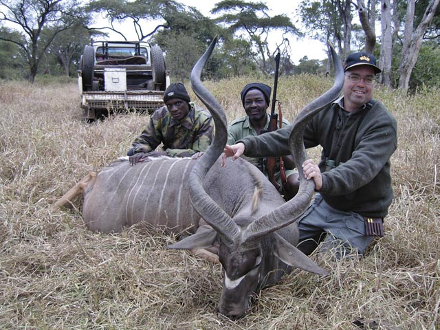 Mr Marvin Quillan Jr Texas USA And Kudu Taken With 350 Rigby Rimless And Woodleigh 358 310gr Weldcore Round Nose Soft Nose Bullet At 2400fps